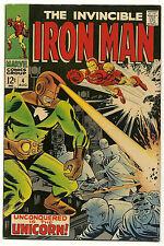 Invincible Iron Man 1968 #4 Very Fine/Near Mint
