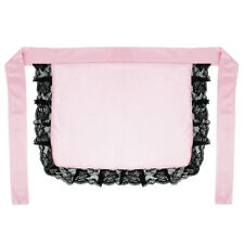 Adult/Teen Pink Nurse or Maid Apron with Black Lace Ruffles ~ HALLOWEEN COSTUME