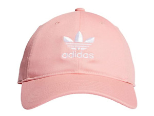 Adidas Originals Relaxed Strapback Hat Youth Fit Cap One Size Pink White - NEW!