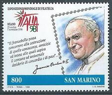 1998 SAN MARINO CONGIUNTA ITALIA GIOVANNI PAOLO II MNH ** - ED