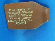 COLBORNE SKI-DOO SHALLOW LAKE ONT SALES SERVICE LEATHER KEYRING FOB VINTAGE