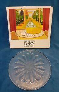 Dartington Glass Daisy Collection Cheese Plate Frank Thrower - vintage Boxed 2