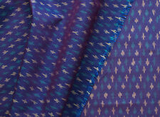 "Purple Ikat Fabric Silk Warp Cotton Weft Irridesent Hand Woven  Soft 44"" Wide"