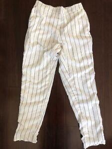 Lulu + Rose Pin Stripe Crop Crimp Pants Size XS