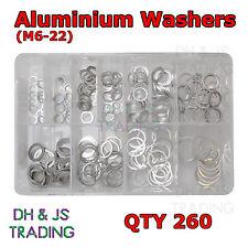 Surtidos Caja De Aluminio Arandelas (m6-22. 11 Tamaños) Qty 260 at159