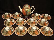 Marked Matsusuke Zo Japanese Taisho Period Imari Tea Set / Pot & Cups & Saucers