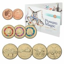 """NEW"" 2017""POSSUM MAGIC"" COIN COLLECTION IN FOLDER $1, $2 COLOURED COINS SET"