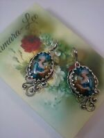 Lady Marie Antoinette Edwardian glass cabochon cocktail stunning earrings