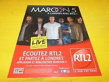 MAROON 5 - Live à Londres 2015 - Publicité de magazine / Advert !!!