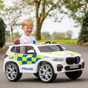 BMW X5 Police 6V Electric Ride On Jeep Kids Car Outdoor Remote Police Jeep Toy