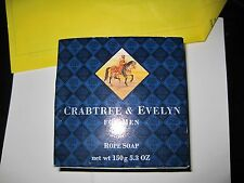 Crabtree & Evelyn Soap on a Rope  For Men New in Box Vintage  1984~5.3 oz Round