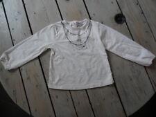 T-shirt manches longues blanc imprimé collier KIDKANAÏ Taille 5 ans / 110 cm