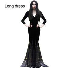 Sexy Women Long Floor Length Mermaid Lace Dress Gothic Halloween Cosplay Costume