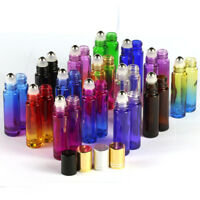10ml Empty Glass Roll on Bottle Metallic Roller Ball Essential Oil Bottles