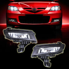 New Black Pair Front Left + Right Fog Lights Fog Lamp for Mazda 3 2007 2008 2009