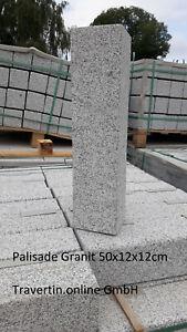 Palisade Stele Randstein Beeteinfassung Granit grau