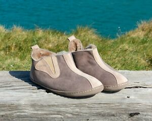 Womens Luxury Genuine Sheepskin Warm Lined Bootie Slippers Size UK 3.5 To 8