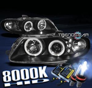 2004 2005 2006 PONTIAC GTO DUAL HALO LED PROJECTOR HEADLIGHT+HID BLACK COUPE 2DR