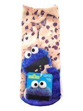 2 pack of  Sesame Street Cookie Monster Photorealistic Anklet Socks Womens 9-11