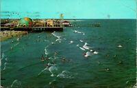 Vtg Chrome Postcard North Wildwood Beach New Jersey NJ Wildwoods by the Sea