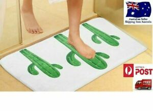 Soft Microfiber Bath Door Mat Bathroom Floor Shower Toilet Rug Anti Slip Mat AU