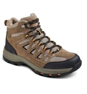 Merona RUDY Hiking Shoes Boots - Tan & Brown Leather - Mens Size 8 - NWT