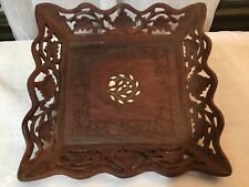 Hand Carved Wooden Dish From India