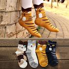 Ladies Girl Cute Animal Cat Printed Ankle Toe Socks Warm Winter Socks Gifts New