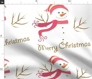 Winter Holiday Christmas Xmas Snowman Snowmen Spoonflower Fabric by the Yard