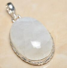 """Fire White Rainbow Moonstone Opal 925 Sterling Silver 1.75"""" Pendant #P06028"""