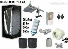 Complete CFL Hydroponic Grow Room Wardrobe Tent Fan Filter Light Kit 60x60x140