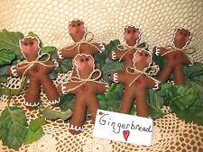 6 Christmas handmade fabric Gingerbread ornaments Wreath-making Home Decor