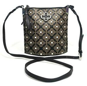 Brighton Renata Toledo Crossbody Credit Cards Pockets Brown Black