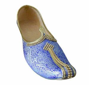 Men Shoes Jutties Indian Handmade Cream Loafers Mojari UK 5.5-10.5 EU 39-44