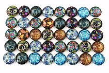 12mm Mixed Paisley Design Glass Cabochons | 50pcs