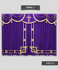 Saaria Royal-1 Church Event Hall Club Stage Home Theater Curtains 10'W x 8'H
