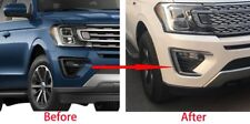 For 2018  Ford Expedition Chrome Front Fog Light Lamp Eyelid Cover Trims