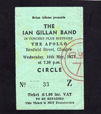1977 Ian Gillan from Deep Purple Concert Ticket Stub Glasgow UK Glory Road