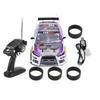 70km/h 1/10 RC Racing Auto 4WD Drift Car Con Telecomando 2 Batteria kit.