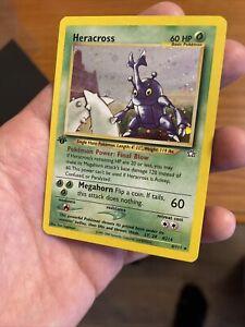 Pokémon 2000 Neo Genesis 1st Edition Holo Heracross 6/111 NM psa 🍃