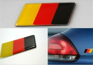 Front and rear bumper badge. German Flag Emblem Sticker Decal vw audi bmw merc