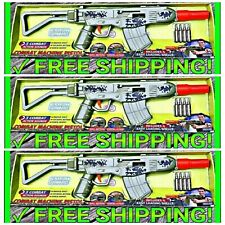 3 Operation Storm Force Machine Guns Green Military Action Sound Toy + SPIDERMAN