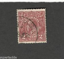 1924 Australia SCOTT#29 KING GEORGE V 2p  Θ used stamp