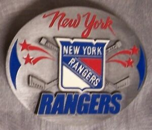NHL Pewter Belt Buckle New York Rangers NEW Siskiyou National Hockey League