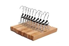 J.S. Hanger Natural Solid Wooden Collection Slack Hanger, Wood Skirt Hangers, Na