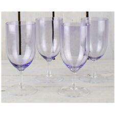 Set of 4 Violet Handmade Wine Goblets Glasses 350 ml