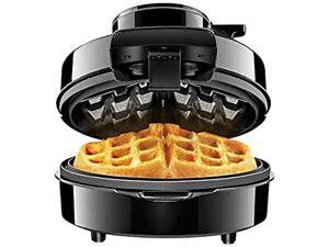 Chefman Perfect Pour Volcano Belgian Waffl Maker w/No Overflow Design Round Iron