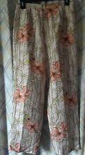 Adriana Papell Petites Silk Floral Print Beaded Pants Slacks Size 10 P