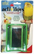 JW Pet Bird Toy Activity Hall of Mirrors Green Sm Birds Parakeet Cockatiel Love
