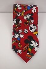 Disney Mickey Mouse Men's Necktie Soccer Novelty Picasso Hand Made Tag
